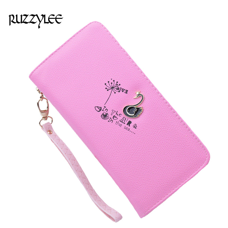 New Fashion Womens Wallets And Purses Long Zipper Designer Female Purse Woman Wallet Brand Clutch Card Holder Portefeuille Femme women female bow famous brand designer hello kitty leather long wallets purses carteira feminina couro portefeuille femme 40