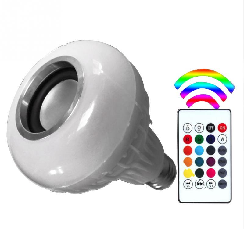 Brand New KITOSUN Multi-color Flashing Wireless Buletooth LED Music Player Audio Speaker Bulb Portable Lamp With Remote control