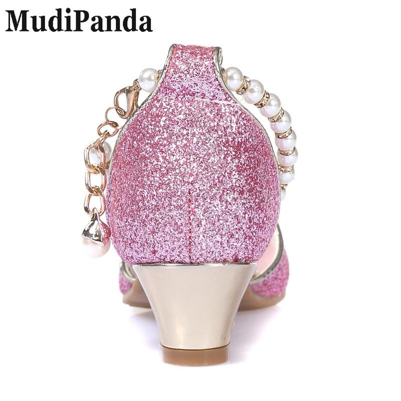MudiPanda Girls Sandały 2018 nowe perłowe buty dziecięce wysokie - Obuwie dziecięce - Zdjęcie 6