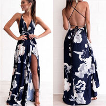 Summer Women Maxi Boho Beach Long Backless Dress Sleeveless