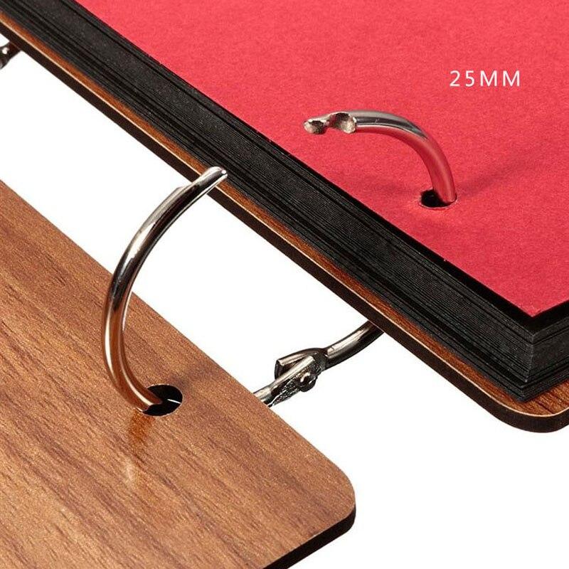 Купить с кэшбэком 20PCS/Lot DIY 25mm Inner Metal Loose Leaf Book Binder Buckle Ring Keychain Scrapbook Sketchbook Craft Photo Split