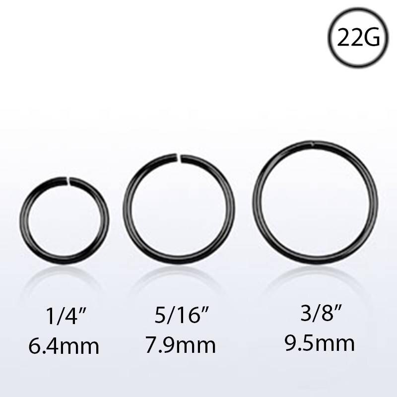 1 Set 20pcs 925 Sterling Silver Nose Ring Hoop 22g Piercing Nose