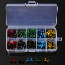 DIY Wholesale 100 Pcs 50 Pairs 5 Colors Mix 8mm Plastic Safety Eyes Box for Teddy