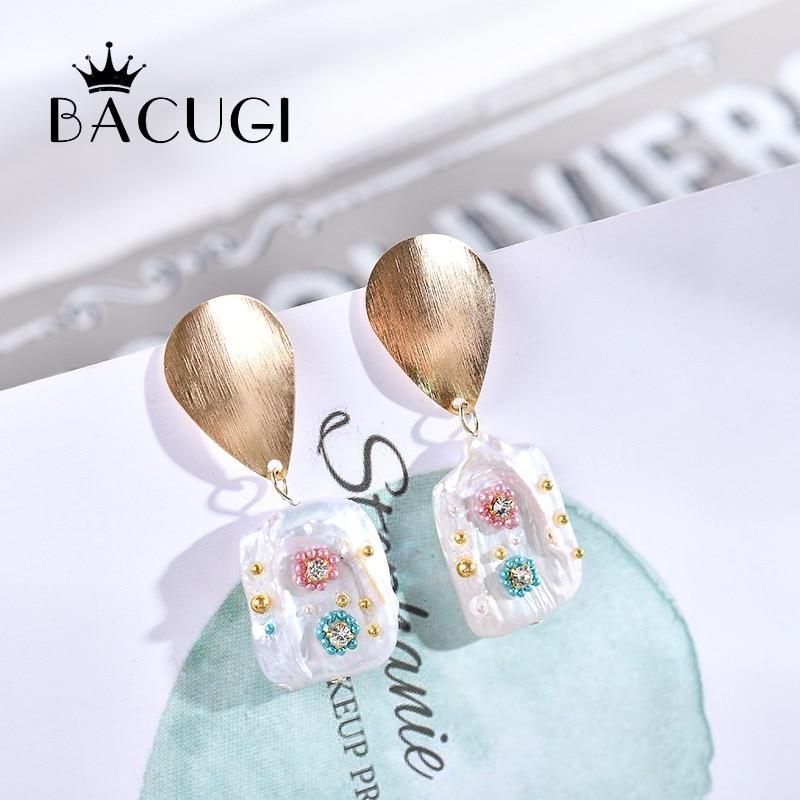 2019 Mode 2019 Neue Großhandel Handgemachte Barocke Perle Ohrringe Für Schöne Frauen Sommer Urlaub Hochzeit Engagement Geschenk Schmuck