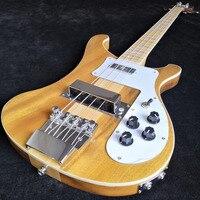 4003W Natural Walnut Bass RARE TRANSLUCENT WALNUT vintage Electric Bass Guitar Neck Thru Body One PC Neck & Body