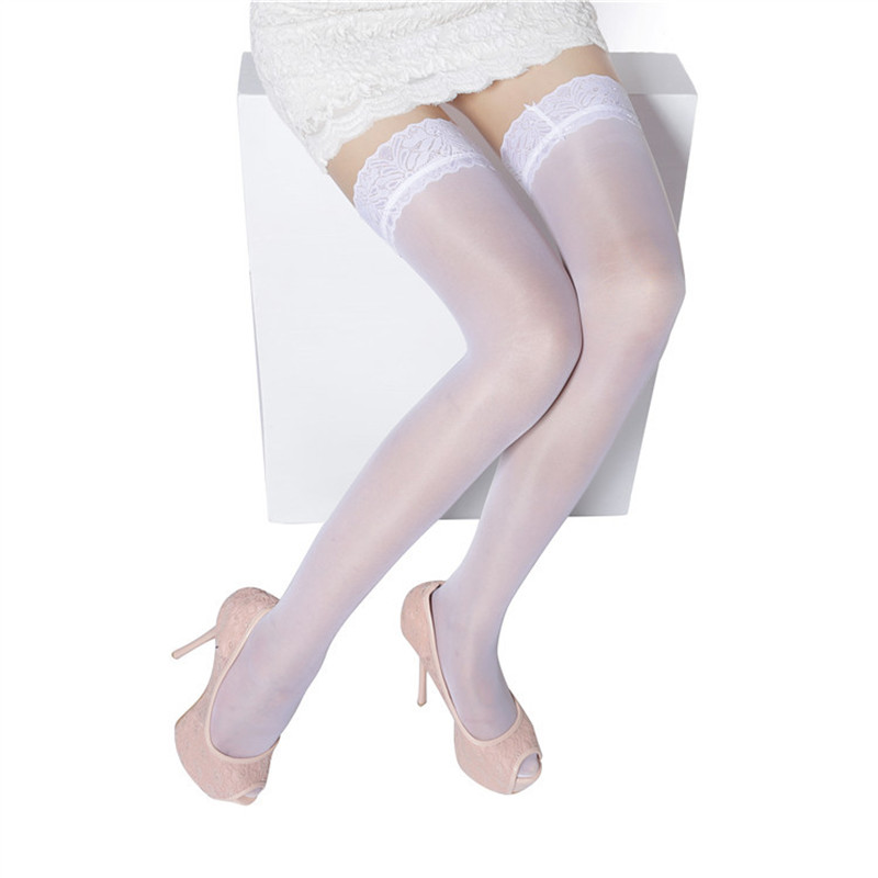 015382420f704 Women Sexy Stockings White Sheer Lace Floral Stocking Thigh High Long Stockings  Over The Knee Socks