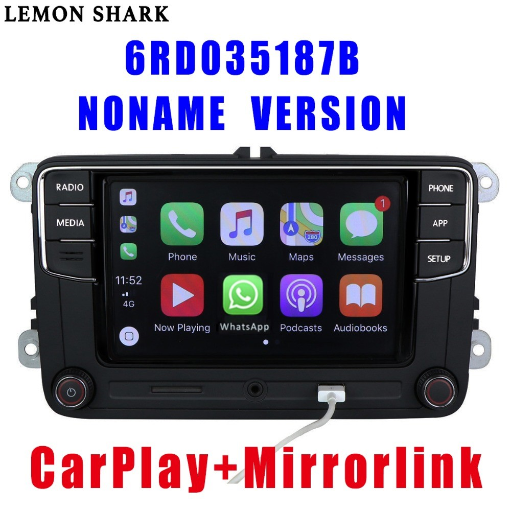 <font><b>RCD330</b></font> Plus RCD330G Carplay <font><b>Noname</b></font> 6.5 MIB Car Radio RCD 330G 6RD 035 187B RCD510 For VW Golf 5 6 Jetta CC Tiguan Passat Polo image