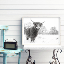 A Little Wild Cow Minimalist Animal Canvas Painting Oil Print Poster Wall Art HD Picture For Living Home Bedroom Decor