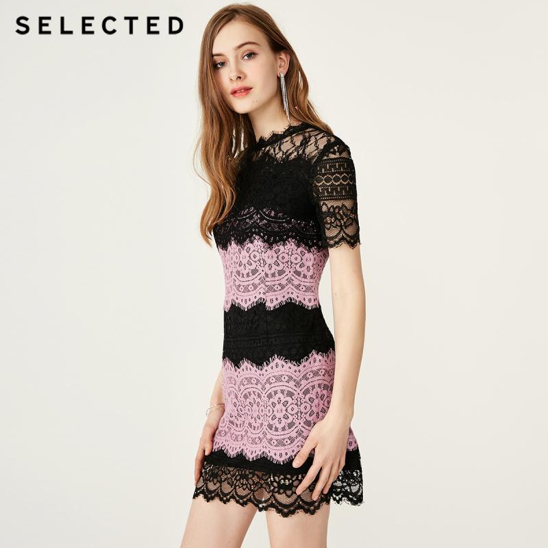 اختيار الصيف يتأهل متنوعة الألوان تقسم الدانتيل اللباس S  41922J538-في فساتين من ملابس نسائية على  مجموعة 1