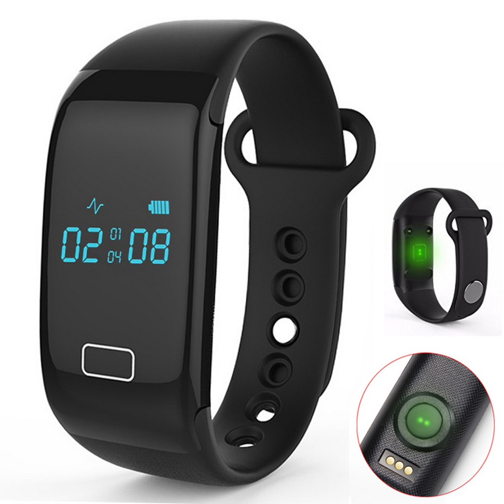 2017 Fitness JW018 Heart Rate Wristband with Step Calorie Tracker Sleep Monitor for Sports Gym Running