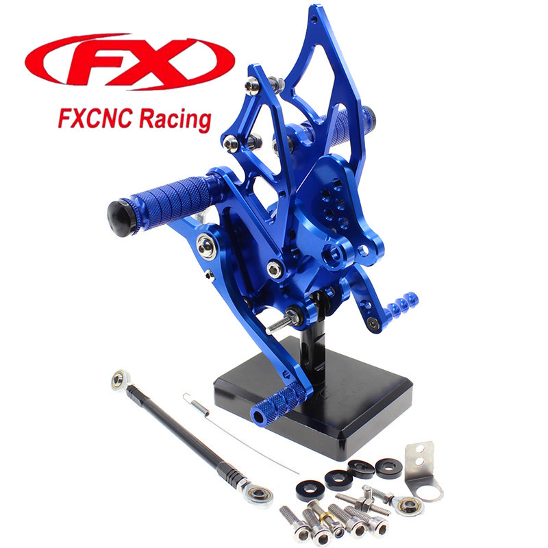 FX CNC Aluminum Adjustable Motorcycle Rearsets Rear Set Foot Pegs Pedal Footrest For YAMAHA MT-25 2015 - 2016 Moto Foot Rests black cnc aluminum alloy billet set racing race go kart pedals foot rests foot pedals brake and accelerator