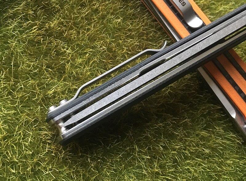 KVT G10 fibra de carbono handle camping