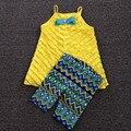 5 jogos/lote meninas vestido e leggings definir, Roupas de menina bebê Set, camisa e calças conjuntos de tamanho 3 T