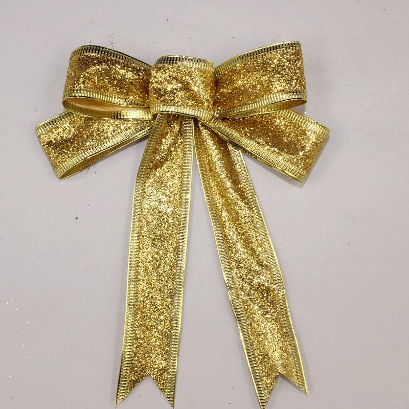 15 cm rdeče srebro zlato peneče bleščice božični lok dekoracija - Prazniki in zabave - Fotografija 3