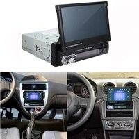 Hd Retractable Touch Screen Monitor Dvd Mp5 Sd Fm Usb Player Car Stereo Audio Car Radio Automotivo Bluetooth 1din 7 Inch