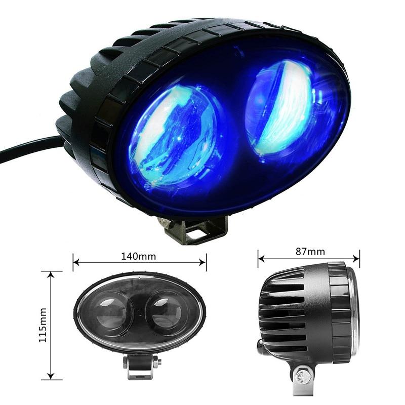 8W Blue led Forklift Satety Light spot light Warehouse Safe Warning Light 9V-60V LED