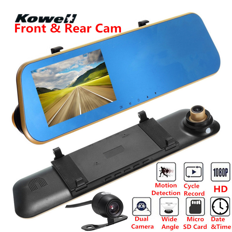 Universal 140 Degree 1080P HD Car DVR & Rear View Mirror Kit Wide Angle Vision Interior Mirrors Inside Flat Rearview Mirror Dash