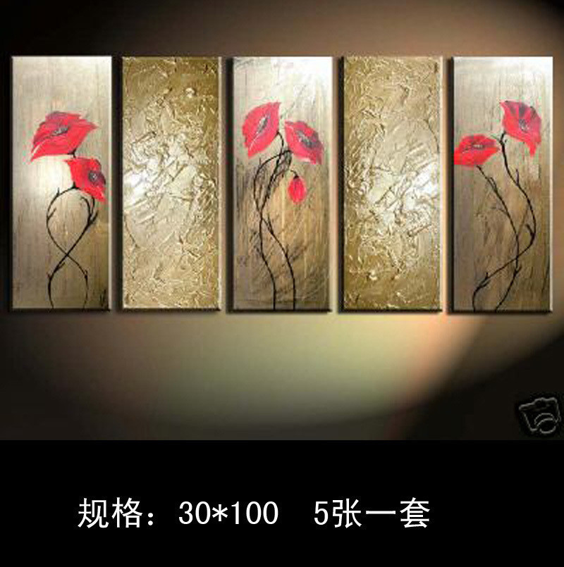5pc Modern Abstract Huge Decor Hand Oil Painting On Canvas Art No frame in Painting Calligraphy from Home Garden