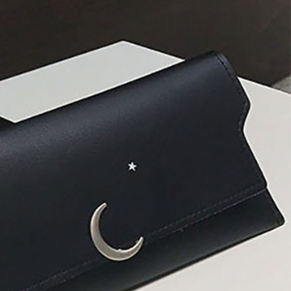 Fashion Simple Solid Color Faux Leather Women Purse Card Cash Holder Wallet Gift