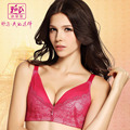 According to ms Mary comfortable breathable side closed together on deep V sexy underwear bra YK2128 gather