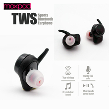 Discount! 2017 NEW Moxpad M3 True TWS Wireless Bluetooth Earphones In Ear Headset BT4.1 Mini TWS Earphone for iphone samsung Earbuds Stere