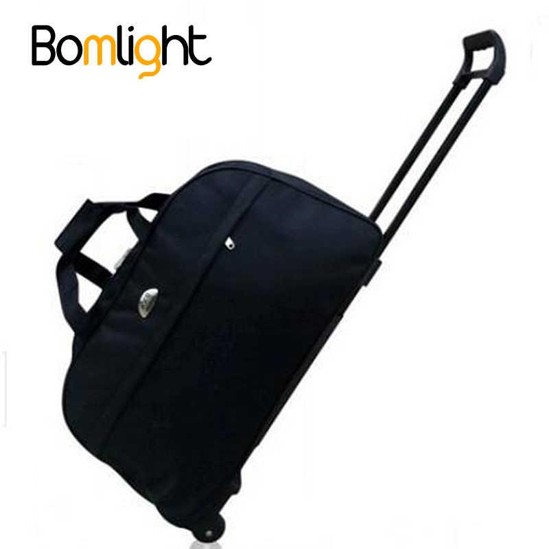 BomLight Новый непромокаемый чемодан сумка толстый стиль прокатки чемодан  на колесиках для женщин и мужчин дорожные a93c57983e7