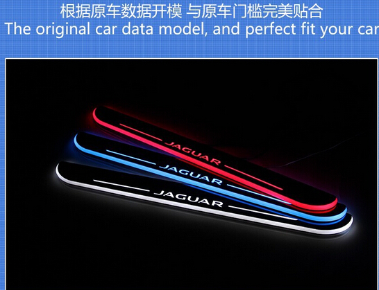 WOOBEST Acrylic LED door sill for Jaguar XF 2010-15, Jaguar XJ(XJL) 2010-15, Led moving door scuff plate, Pathway light защита от солнца для автомобиля guozhang 300c xjl xf