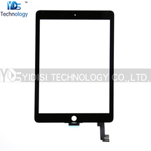 1PCS NEW For iPad Air 2 iPad 6 Contact Display Digitizer Glass Panel Cowl Alternative Elements White/Black