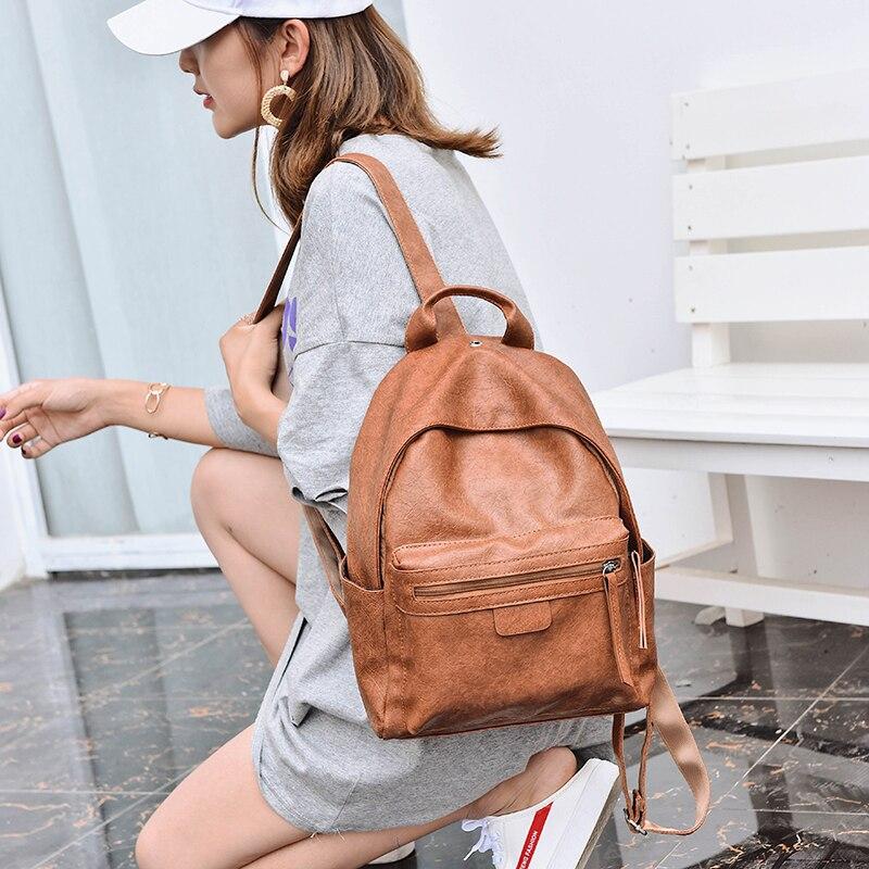 2018 Fashion Women Backpacks PU Leather School Backpacks For Teenage Girls Shoulder Bag Female Daypack For Women