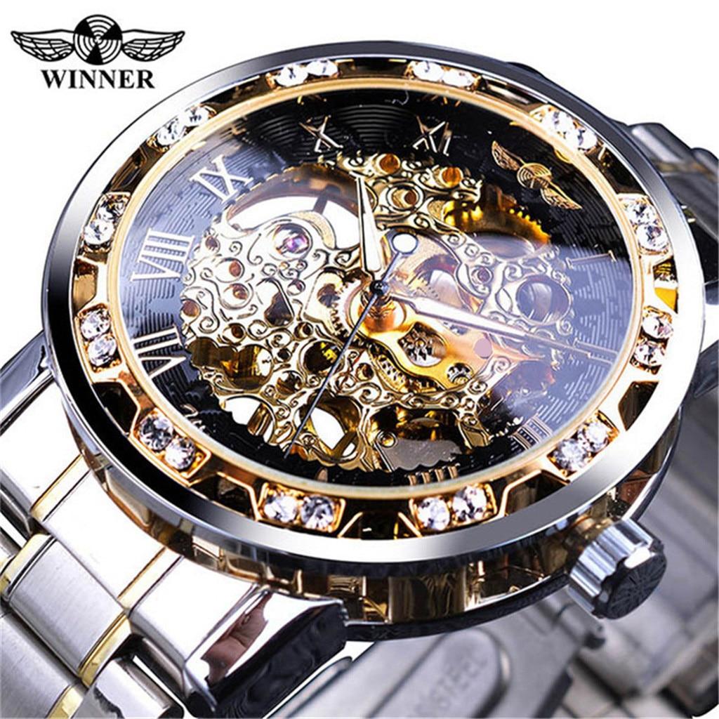 T-WINNER Mann Mechanische Uhr Mode Hohl Luxus Design Business Uhren Herren 2019 Männer Armbanduhr Uhr erkek kol saati