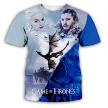 T shirt Homme 2018 New Game of Thrones T Shirt Men Cool The North Remembers Blood Wolf T-shirt Men's Tee Shirts Camisetas Hombre wolf by wolf blood for blood