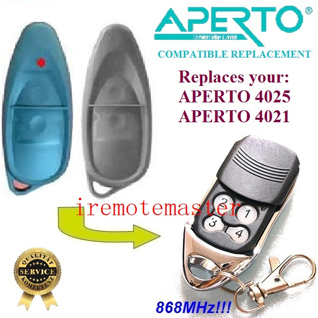 APERTO transmitter remote 4025 4021 868 8MHZ replacement