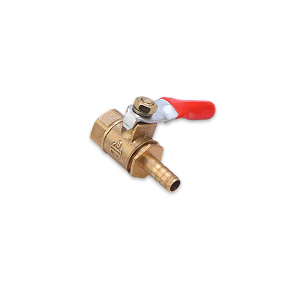 <font><b>Brass</b></font> Barbed <font><b>ball</b></font> <font><b>valve</b></font> 4-12 Hose Barb 1/8'' 1/2'' 1/4'' Female Thread Connector Joint Copper Pipe Fitting Coupler Adapter image