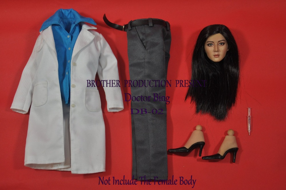 1/6 figure doll clothes female doctors uniforms with head for 12 Action figure doll accessories.not include body and other seduced by death – doctors patients