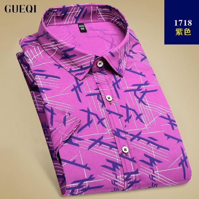 f801af8e546 GUEQI Brand Spring Men s 100% Cotton Business Anti wrinkle Shirts Men Casual  Slim Fit Shirt Fashion Camisa Masculina M-4XL D1718