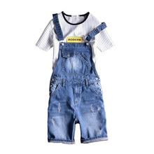 Brand  2018 New Designer Men's Shorts Jeans Pants Fashion Ripped Bib Overalls Jean Short Man Slim Fit Short Jumpsuit Size S-5XL