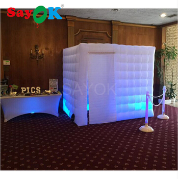 White Interior Doors | Custom Print Two Door Inflatable Photo Booth/ Inflatable Wedding Photo Booth Black Interior And White External
