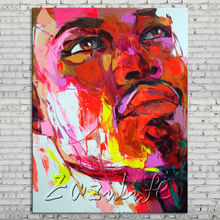 Palette knife portrait Face Oil painting Character figure canvas Hand painted Francoise Nielly wall Art picture 713