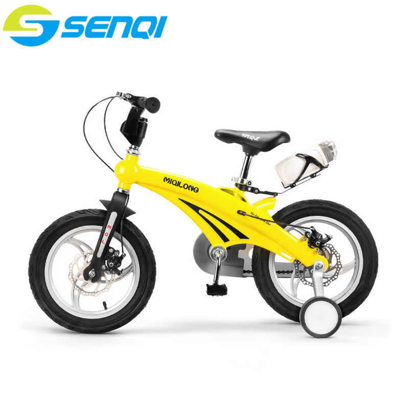 Kids Bicycle Double Disc Brake 12 14 16 inch With Auxiliary Wheel Children Mountain Bike цены онлайн