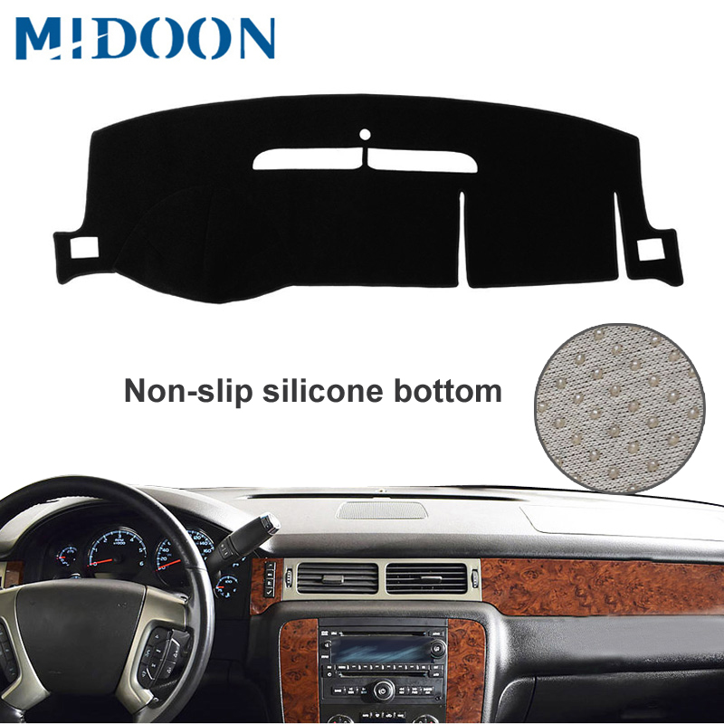 MIDOON Dash Mat Dashboard Cover Dashmat Fit For Chevrolet Suburban Tahoe Avalanche Silverado GMC Yukon Sierra 2007-2013 Dash Boa