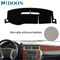 MIDOON Dash Mat Dashboard Cover Dashmat Fit For Chevrolet Suburban Tahoe Avalanche Silverado GMC Yukon Sierra 2007 2013 Dash Boa