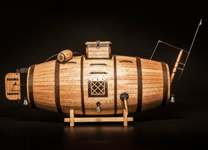 Image 2 - NIDALE Model wyprzedaż 1/N wycinany laserowo drewniany model najwcześniejszy model drewna podwodnego instrukcja angielska