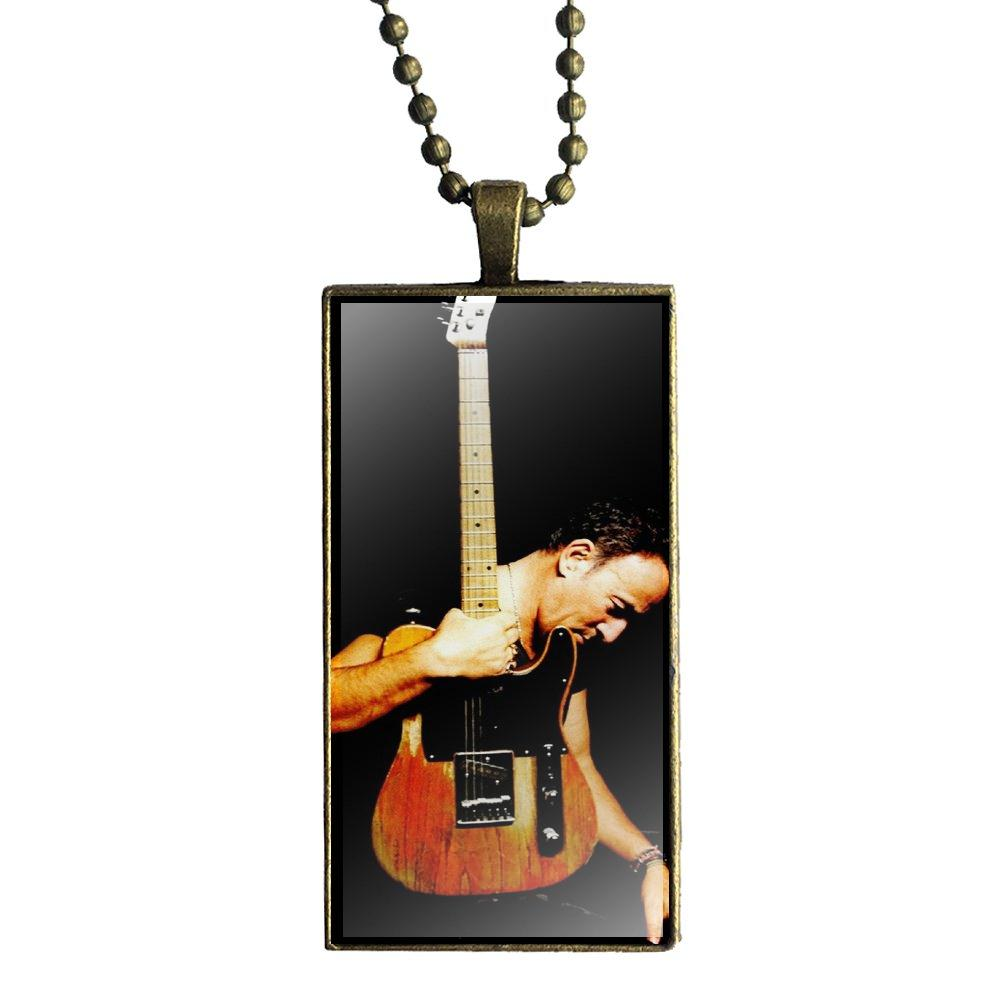 Fashion Necklace Handmade Rectangle Shape Choker Necklace Jewelry Multi  Designs For Child Bruce Springsteen Star Original