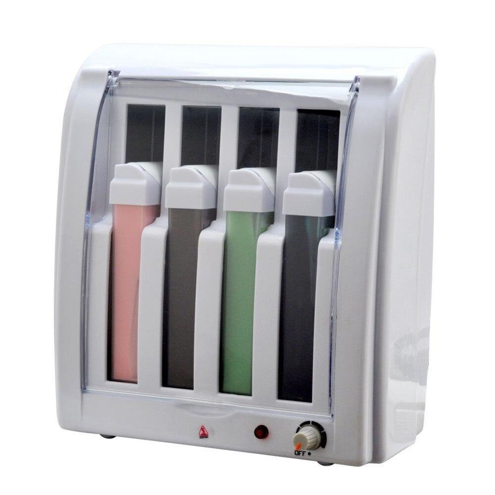 Pro Roll On Depilatory Wax Heater 4 Cartridge Hot Warmer Hair