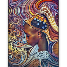 DIY Africa women diamond painting dimaond embroidery full drill 5D mosaic round