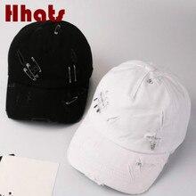 e7e29b8e541 which in shower plain distress dad hat for women men casual hole baseball  cap cotton