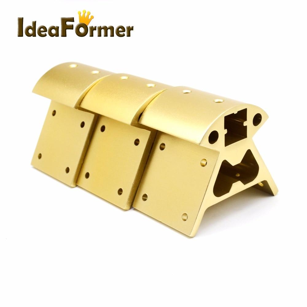 Image 2 - 1 set Corners 3D printer parts  Frame Reprap All metal Delta 3  small Top 3 big bottom 2020 Aluminum profile Vertex Kossel3D Printer  Parts