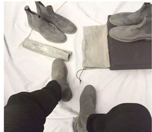 Handmade All matching Luxury brand Men Chelsea Boots Leather Yeezus font b Shoes b font font