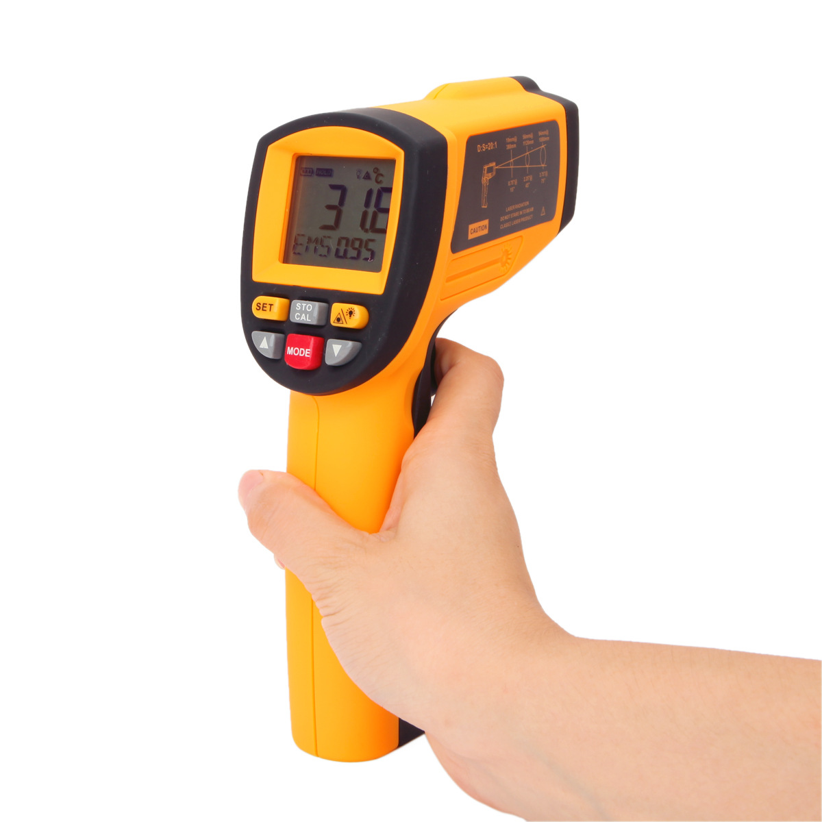 -58~2102F Pyrometer 0.1~1EM Celsius IR Infrared Thermometer Non-Contact Free Shipping GM1150 -50-1150C цена 2016