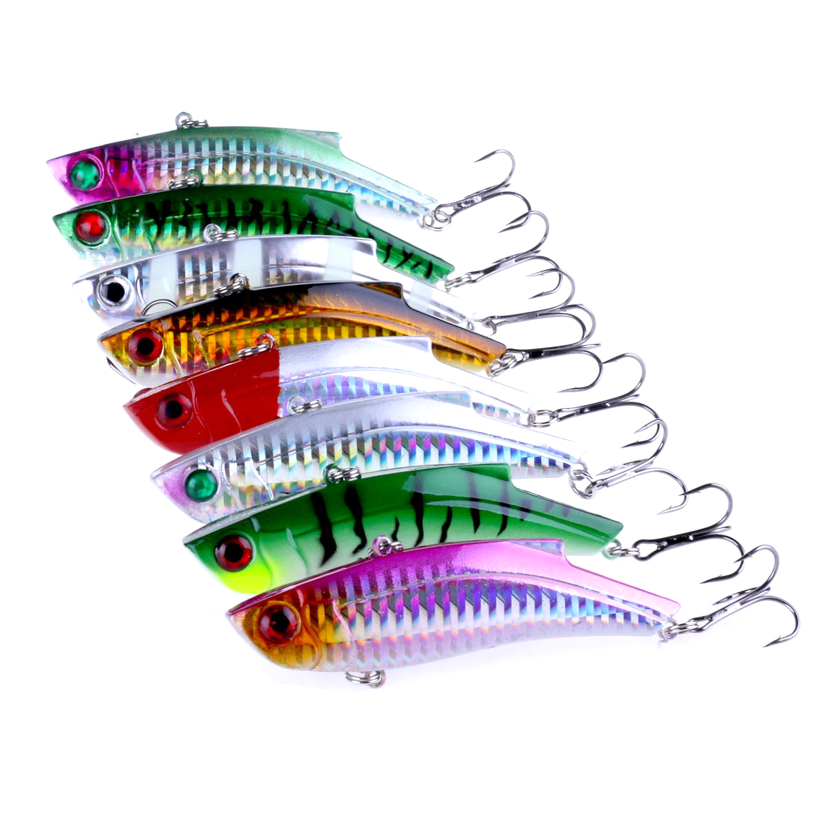 VIB Fishing Lures Sets 28g 90mm Crankbait Fishing Tackle Deep Swim Bionic Artificial Vib Lure Hard Bait 8pcs/set